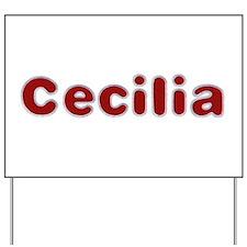 Cecilia Santa Fur Yard Sign