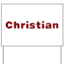 Christian Santa Fur Yard Sign