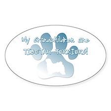 Tibetan Terrier Grandchildren Oval Decal
