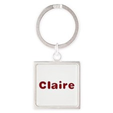 Claire Santa Fur Square Keychain