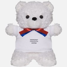 Emergency Communication System - Black Teddy Bear