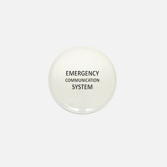 Emergency Communication System - Black Mini Button