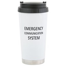 Emergency Communication System - Black Travel Mug