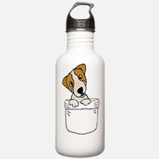 Cute Russell terrier Water Bottle