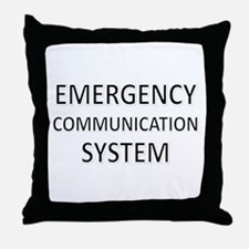 Emergency Communication System - Black Throw Pillo
