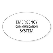 Emergency Communication System - Black Decal