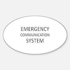 Emergency Communication System - Black Decal