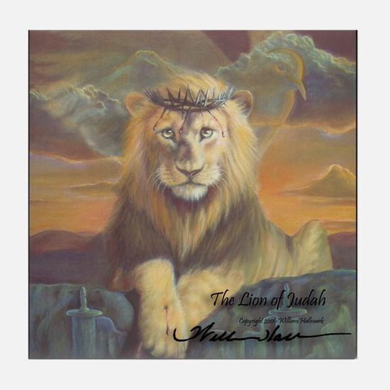 """The Lion of Judah"" Fine Art Tile Coaster"