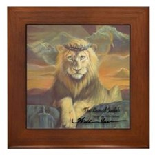 """The Lion of Judah"" Fine Art Framed Tile"