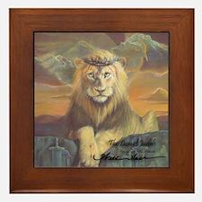 """""""The Lion of Judah"""" Fine Art Framed Tile"""