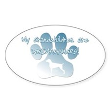 Weimaraner Grandchildren Oval Decal