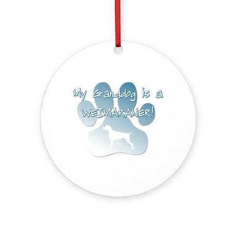 Weimaraner Granddog Ornament (Round)