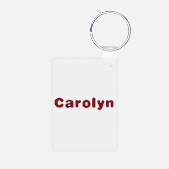 Carolyn Santa Fur Aluminum Keychain