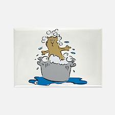 Cat Bath II Rectangle Magnet