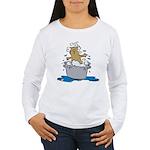 Cat Bath II Women's Long Sleeve T-Shirt