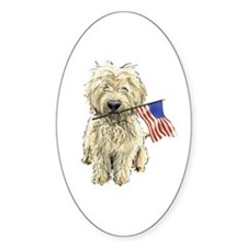 4th of July Doodle Oval Decal
