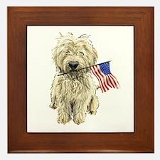 4th of July Doodle Framed Tile