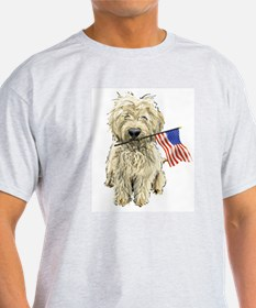 4th of July Doodle Ash Grey T-Shirt