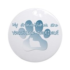 Yorkshire Terrier Grandchildren Ornament (Round)