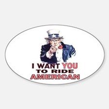Ride American Oval Decal