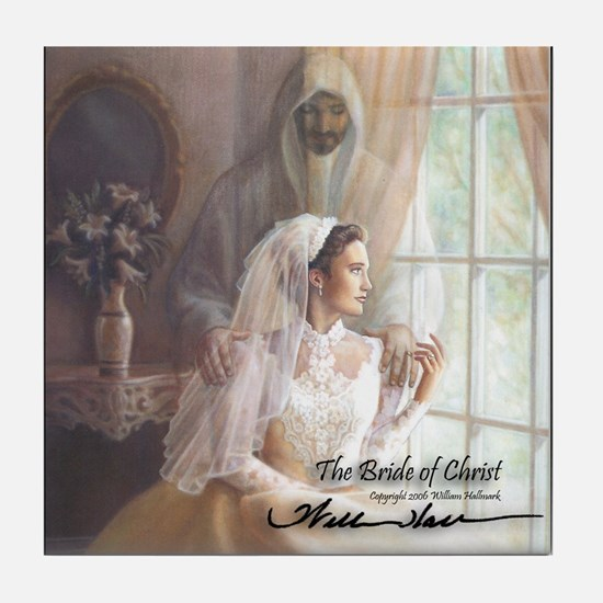 """The Bride of Christ"" Tile Coaster"