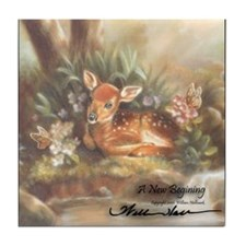 """A New Begining"" Fine Art Nature Tile Coaster"