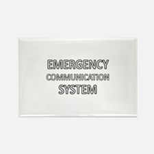 Emergency Communication System - White Rectangle M