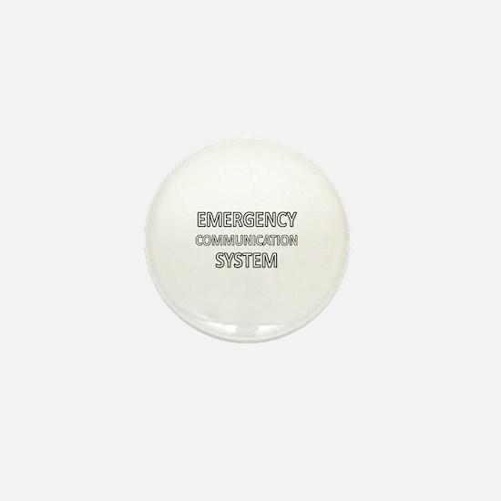 Emergency Communication System - White Mini Button
