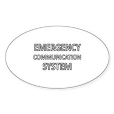 Emergency Communication System - White Decal