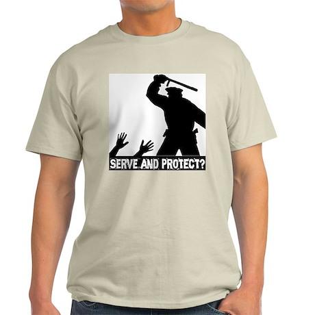 Police Brutality Ash Grey T-Shirt