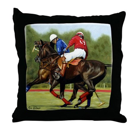 Del Mar Polo Throw Pillow