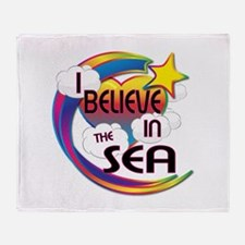 I Believe In The Sea Cute Believer Design Throw Bl