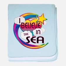 I Believe In The Sea Cute Believer Design baby bla