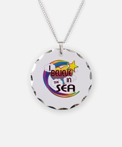 I Believe In The Sea Cute Believer Design Necklace