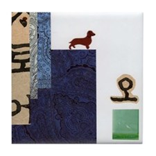 Zen Dachshund: dox-ZEN Tile Coaster