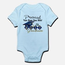 Proud 2017 Graduate Blue Body Suit