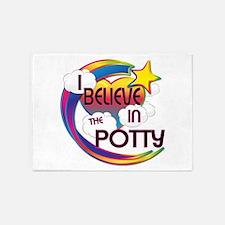 I Believe In The Potty Cute Believer Design 5'x7'A