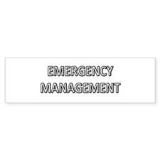 Emergency Management - White Bumper Sticker