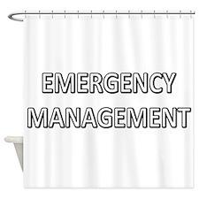 Emergency Management - White Shower Curtain