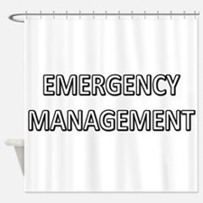 Emergency Management - White Shower Curtain