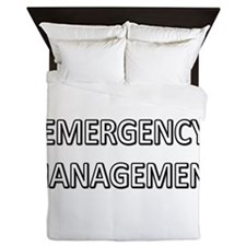 Emergency Management - White Queen Duvet