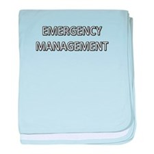 Emergency Management - White baby blanket