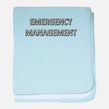 Emergency Management - White baby blanket