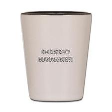 Emergency Management - White Shot Glass