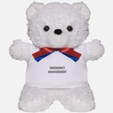 Emergency Management - White Teddy Bear