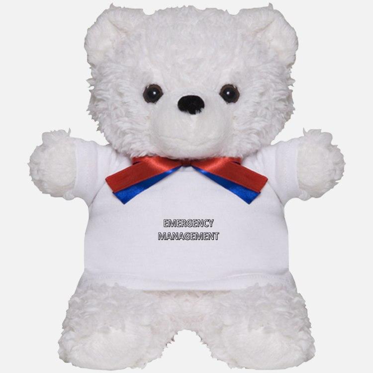 Emergency Management - White Teddy Bear