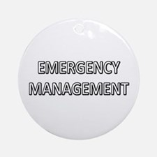 Emergency Management - White Ornament (Round)