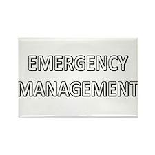 Emergency Management - White Rectangle Magnet