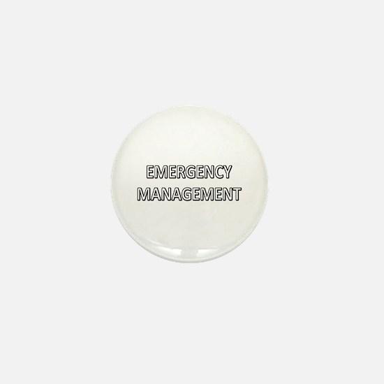 Emergency Management - White Mini Button