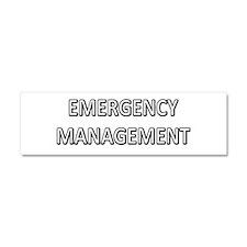 Emergency Management - White Car Magnet 10 x 3